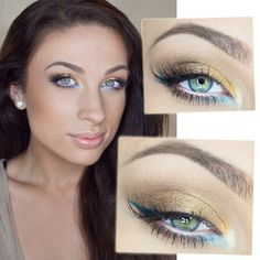 great blue, summer makeup