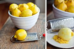 How to Freeze Lemon Zest.  BONUS: links to freezing bananas, milk, cheese, berries, sour cream, cookie dough, rice, chopped veggies, and crackers/chips.