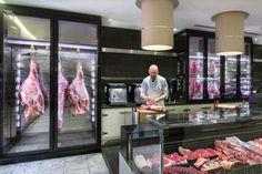 New Meat Shop Interior Butcher Blocks Ideas Butcher Store, Local Butcher Shop, Meat Butcher, Meat Restaurant, Restaurant Design, Butcher Restaurant, Retail Boutique, Retail Shop, Carnicerias Ideas