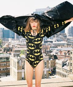 Lazy Oaf X Batman Bat Logo Bodysuit