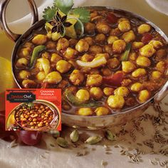 Gluten-Free Channa Masala: Chickpeas sautéed with onions, tomatoes, peppers and exotic spices.