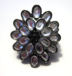 PLUS size stretch floral ring!