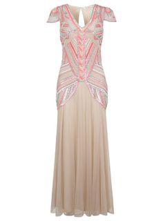 Nude Embellished Maxi - Dresses - Apparel