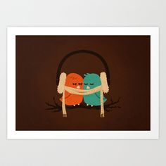 Baby It's Cold Outside Art Print by Budi Satria Kwan - $19.97