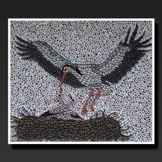 MOZALİKYA -Çakıltaş Mozaik, Rodos Bezemesi, pebble art, podima, çakıl, taş döşeme, madalyon, likya