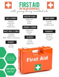 first aid with young living essential oils - health and beauty Essential Oils 101, Essential Oil Blends, Young Living Oils, Young Living Essential Oils, Yl Oils, Doterra Oils, Living Essentials, Camping Essentials, Healing Oils