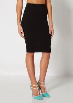 Black Knit Midi Skirt | Midi | rue21