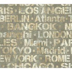 """Urban Chic 27' x 27"""" Figural Roll Wallpaper"""