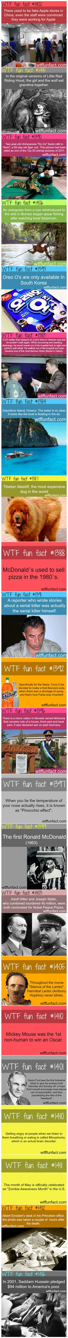 We have rounded up some fun and random facts that you probably did not know were true.
