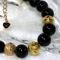 Real Black Tourmaline Gold(Silver925)