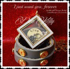 Original Silver Wrap, Diamond Locket and charms...