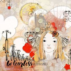 FEARLESS: A reminder for myself.  I made this page with Artful Marks - Possibilities from Jen Maddocks, available at Digital Scrapbooking Studio here: https://www.digitalscrapbookingstudio.com/jen-maddocks-designs/