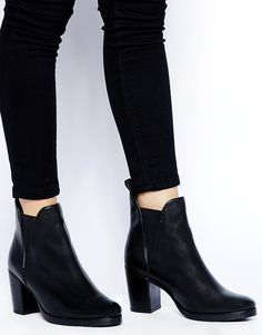 ASOS ROAD RAGE Leather Ankle Boots