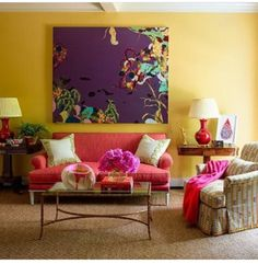 Living Room in A Color Study by J. Randall Powers Interior Decoration on Sophie Robinson, Eclectic Living Room, Living Rooms, Family Rooms, Transitional Home Decor, Interior Decorating, Interior Design, Interior Ideas, Color Studies