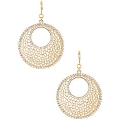 Kenneth Jay Lane Circle Filagree Earrings ($38) ❤ liked on Polyvore featuring jewelry, earrings, no color, kenneth jay lane earrings, cut out earrings, pave earrings, circle earrings ve circle jewelry