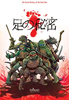 """TMNT_Ashi no Himitsu_teaser by *Santolouco  Last friday on IDW's panel at SDCC 2012, TMNT's editor, Bobby Curnow, announced a miniseries that I'll be writing and drawing for the TMNT franchise. The story """"The Secret History of The Foot Clan"""" was created by me and is being co-scripted by me and Erik Burnham. It is set for late 2012 and will show how the Shredder rose to power and came to the current day."""