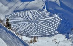 Trampled Snow Art by Simon Beck