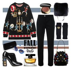 """""""Cozy Fall Sweaters"""" by nicolevalents ❤ liked on Polyvore featuring Dolce&Gabbana"""