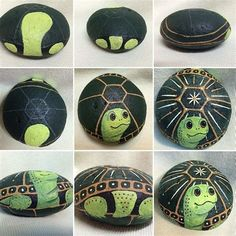 Image result for Painted Rocks Turtle Tutorial