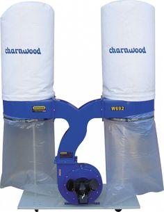 Charnwood W692 3HP Double Bag Dust Extractor