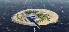 Power Island for wind farms in North Sea