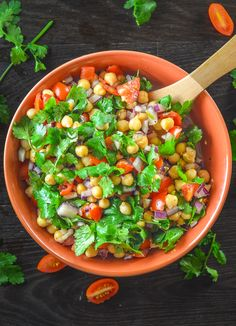 Tomato Chickpea Salad with Cilantro & Lime – Dan330