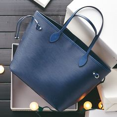 This Louis Vuitton bag makes us feel anything but blue.