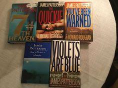 Set Of Five Hardcover James Patterson Novels Violets Blue Quickie Sam's Letters