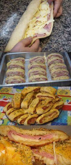 ENROLADINHO DE FORNO (PRESUNTO E MUSSARELA ) #enroladinh #enroladinhodeforno #comida #culinaria #gastromina #receita #receitas #receitafacil #chef #receitasfaceis #receitasrapidas