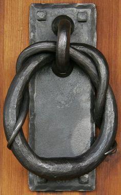 Antique Dummy Door Knobs, Wrought Bronze Corbin Cairo Design with Door Plates, Pair of 2 Each, ca 1905 Door Knockers Unique, Door Knobs And Knockers, Knobs And Handles, Door Handles, Cool Doors, Unique Doors, La Forge, Door Detail, Door Accessories