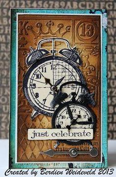 Scrap from Bemmel: Nieuwe Tim Holtz-stempels ! Steampunk Cards, Boy Cards, Men's Cards, Tim Holtz Stamps, Artist Trading Cards, Copics, Masculine Cards, Card Tags, Vintage Cards