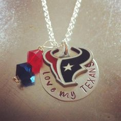Love My Texans Houston Texans Hand Stamped by stampedandstrung, $25.00
