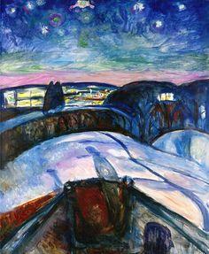 Edvard Munch - Starry Night (1922–24)