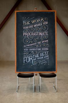 Two Anonymous Students are Drawing Inspirational Quotes on a Chalkboard and It's Amazing