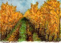 """Autumn Vintage"" original watercolor by Jan Burley"
