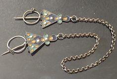 Fibules Parure Bijoux Collier Berbere Beni Yenni Kabylie Magreb Argent Email | eBay