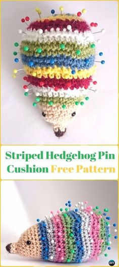 Simply Crochet : Amigurumi Striped Hedgehog Pin Cushion Free Patter...