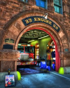 The exterior of Boston Fire Dept. Engine 33 showing off the beautiful brick architecture. Engine Company 33 and Ladder Company 15 have remained at 941 Boylston St. at the corner of Hereford in the Back Bay section of Boston since 1888. #Boston #BFD #BostonFireDept #Engine33 #BackBay #Firefighter