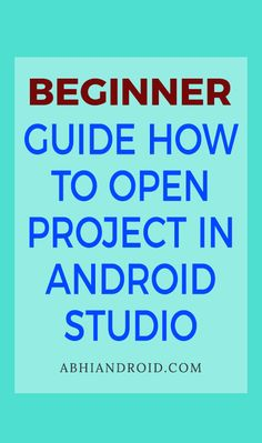 When a Android project is already present in your system then you can open it easily in Android Studio. Here we are sharing step by step guide how to open project and recent project in Android Studio. Open Project, Studio App, Studio Layout, Android Studio, Tech Gadgets, Step Guide, Android Apps, Programming, Mobile App