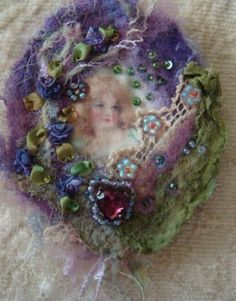 Felted and Embellished Brooches by Pat Winter