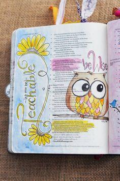 Proverbs 8:32-34 & Proverbs 9:8-10 November 5 & 7, 2016 carol@belleauway.com, watercolor, Illustrated Faith pen, bible art journaling, journaling bible, illustrated faith