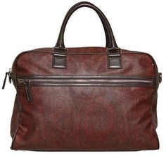 Fancy - Etro Jacquard Waxed Canvas Bag in Brown for Men (bordeaux) | Lyst