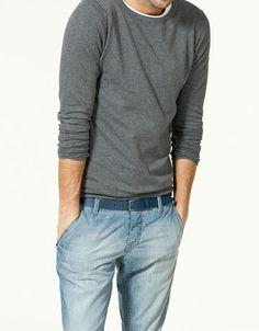 Zara Cotton Polyamide Sweater $35.90