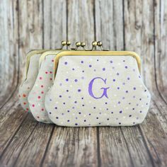 Monogrammed Wedding Clutch Bridesmaid Gift  by BagsCloset on Etsy