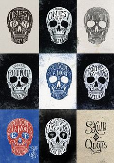 Skulls & Quotes | Picame - Daily dose of creativity