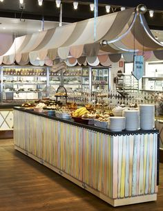 Buffet in a Circus themed restaurant in Sweden-- soo fab.
