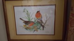 Painted for my mom. She loved birds.