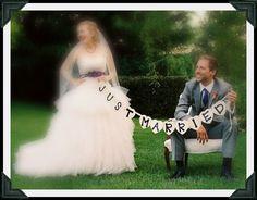 Just Married Wedding Bunting - Wedding Photo Prop - Decoration