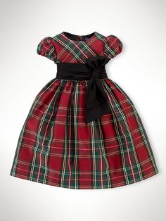 Christmas dress for Moira? Tartan Party Dress - Dresses & Rompers   Girls 2–6X - RalphLauren.com