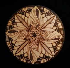 pyrography.. 10 inch birch wood by Debbie Griggs